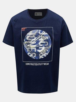 Tricou albastru inchis cu imprimeu Jack & Jones Jordan