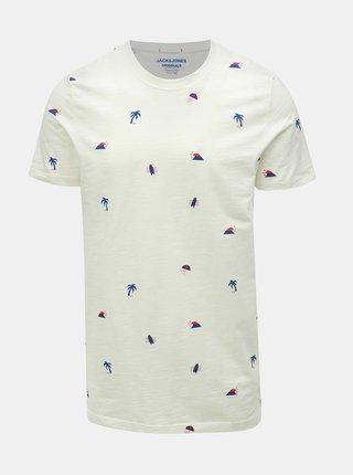 Krémové tričko s potiskem Jack & Jones Stormy