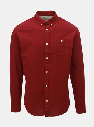 Camasa bordo slim fit cu buline Jack & Jones Portland
