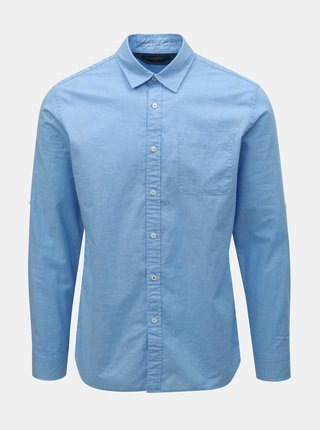 Camasa albastra melanj slim fit Jack & Jones Caleb