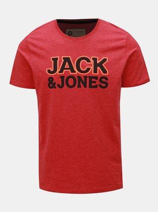Červené tričko s potiskem Jack & Jones Nine