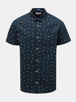 Tmavě modrá vzorovaná košile Jack & Jones Luis