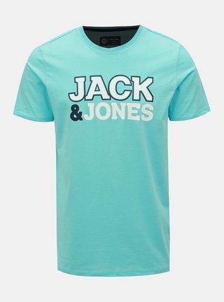 Světle modré tričko s potiskem Jack & Jones Nine