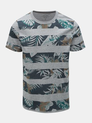 Tricou gri cu model Jack & Jones Rise