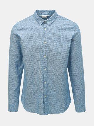 c6f2a30e618a Bielo-modrá pruhovaná classic fit košeľa Hackett London