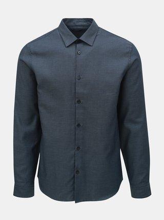Tmavomodrá vzorovaná regular fit košeľa Selected Homme Twogreg