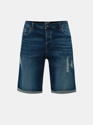 Pantaloni scurti albastru inchis din denim ONLY & SONS Avi