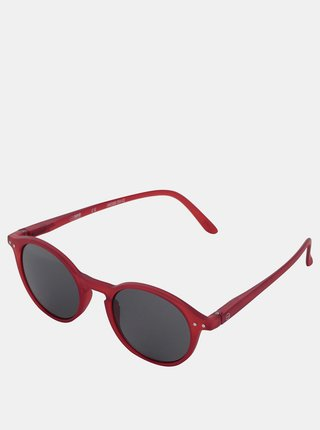 Červené unisex slnečné okuliare s čiernymi sklami IZIPIZI #D