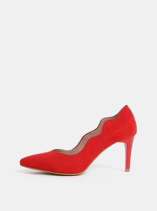 Pantofi rosii cu aspect de piele intoarsa OJJU Madrid