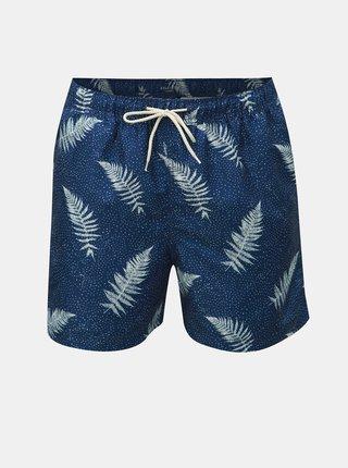 Tmavě modré vzorované plavky Selected Homme Classic