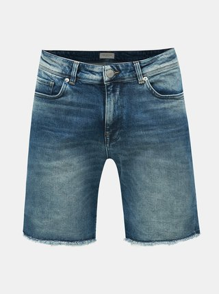 Pantaloni scurti albastri din denim Selected Homme Leonel