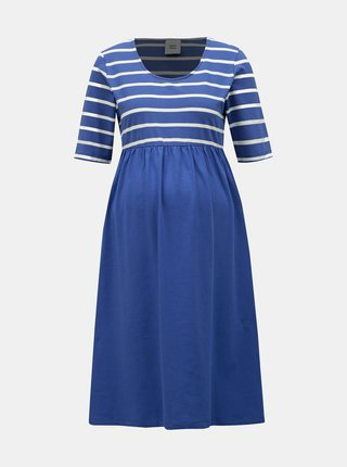 86447ea6df35 Modré pruhované tehotenské šaty Mama.licious Madelleine