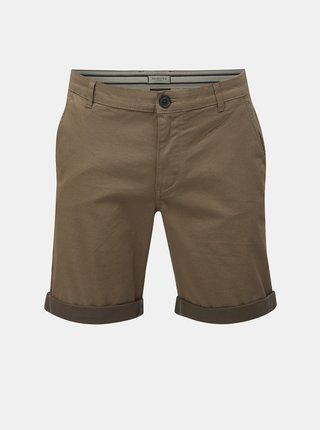 Pantaloni scurti maro straight fit cu model Selected Homme Paris