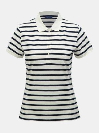 Modro-bílé dámské pruhované polo tričko GANT