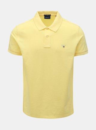 Žltá pánska slim fit polokošeľa GANT