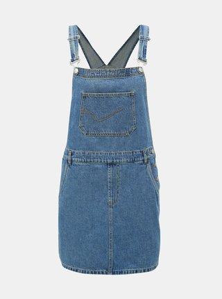 8bfe3d0d1405 Modré rifľové šaty s trakmi ONLY Karlie
