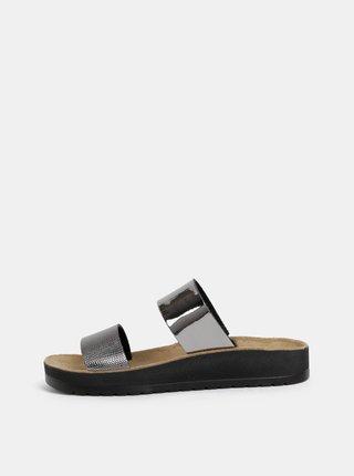 Dámské pantofle ve stříbrné barvě Scholl Cynthia