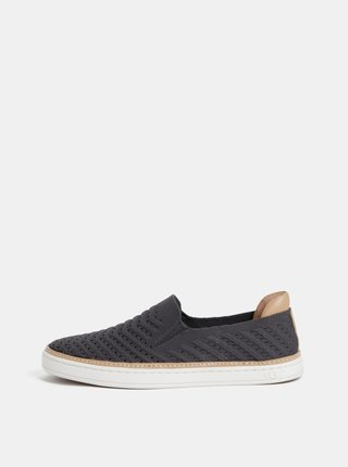 Pantofi slip on gri inchis de dama UGG