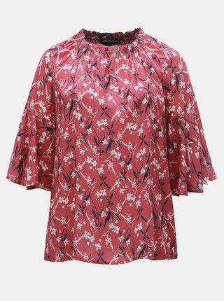 Bluza roz florala Ulla Popken
