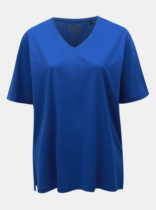 Modré basic tričko Ulla Popken