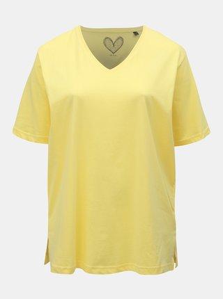 Žluté basic tričko Ulla Popken