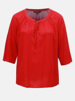 Bluza rosie cu buline Ulla Popken