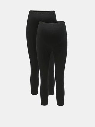Set de 2 leggings 3/4 negri pentru femei insarcinate Mama.licious