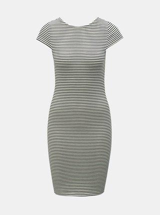 Čierno–biele pruhované puzdrové šaty ONLY Pablo