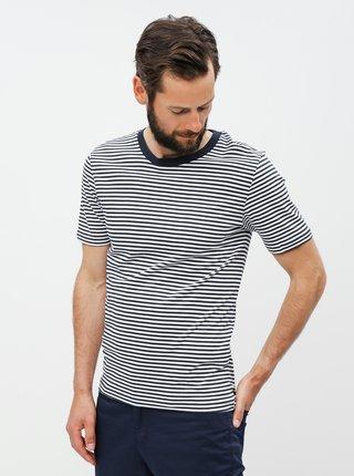 Bílo-modré pruhované basic tričko Selected Homme Perfect