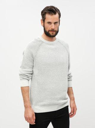 Světle šedý žíhaný svetr Burton Menswear London