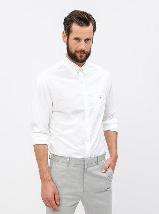 Bílá pánská regular fit košile GANT