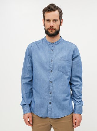 Camasa albastra din denim Burton Menswear London