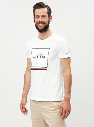 ec6103b0e0cb Bílé pánské tričko s nášivkou Tommy Hilfiger