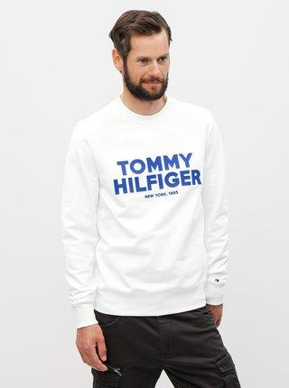 Biela pánska mikina s potlačou Tommy Hilfiger