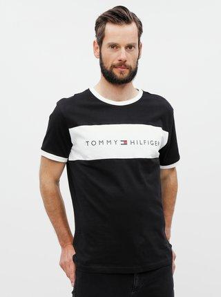 Tricou barbatesc negru cu imprimeu Tommy Hilfiger