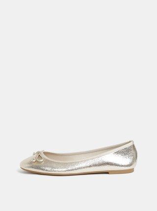 Baleríny v zlatej farbe Dorothy Perkins