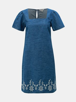 Modré džínové šaty s výšivkou Dorothy Perkins