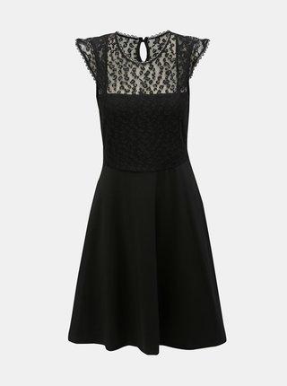 e00f59c039bf Čierne šaty s čipkou a leopardím vzorom Dorothy Perkins