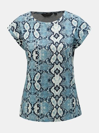 Tricou albastru cu motiv sarpe Dorothy Perkins