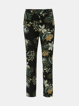 Pantaloni negri florali Dorothy Perkins Tall