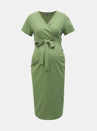 Zelené tehotenské puzdrové šaty Dorothy Perkins Maternity