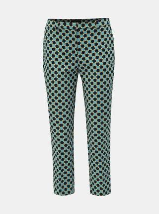 Pantaloni albastri pana la glezne cu model Dorothy Perkins