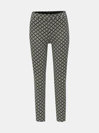 Černé vzorované skinny fit kalhoty Dorothy Perkins