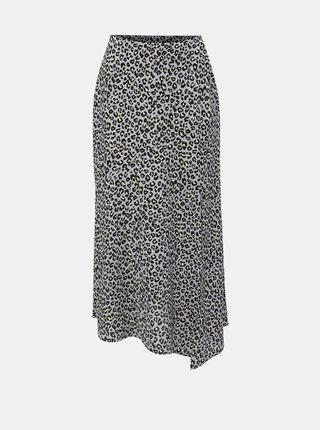 Fialová midisukňa s leopardím vzorom Miss Selfridge