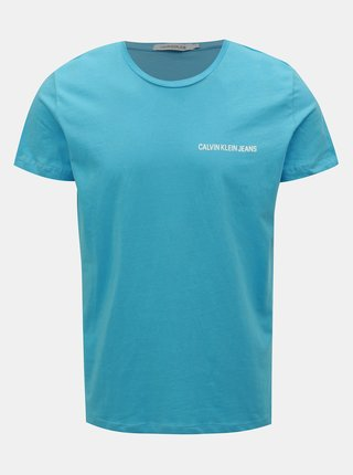 Modré pánské tričko Calvin Klein Jeans