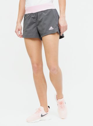 Pantaloni scurti roz-gri de dama adidas Performance