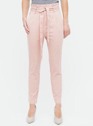 Staroružové nohavice s vysokým pásom VERO MODA Eva