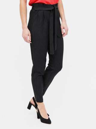 Čierne pruhované nohavice ONLY Florence