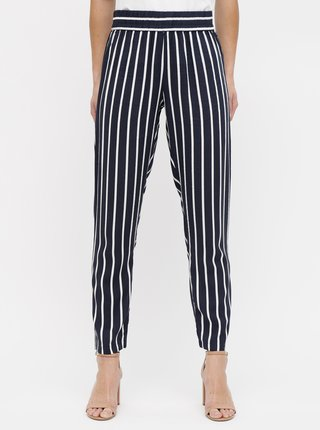Pantaloni albastru inchis in dungi Jacqueline de Yong Star