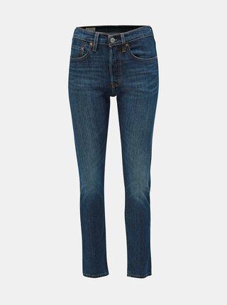 Blugi albastru inchis skinny fit de dama Levi's® 501
